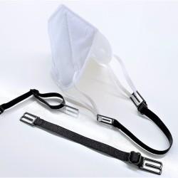 Maskenhalter OP/FFP, Ear Rescue - hoher Tragekomfort, entlastet die Ohren, elastisch und verstellbar, schwarz