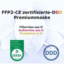 10 x FFP2 Atemschutzmaske EN149:2001 DEKRA CE 0158 - ohne GERUCH - ohne Chemie - Made in Germany - DDD
