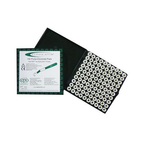 Alpha-Stim Kontakt-Pads für Elektrodensticks (Box mit 100 Stück)