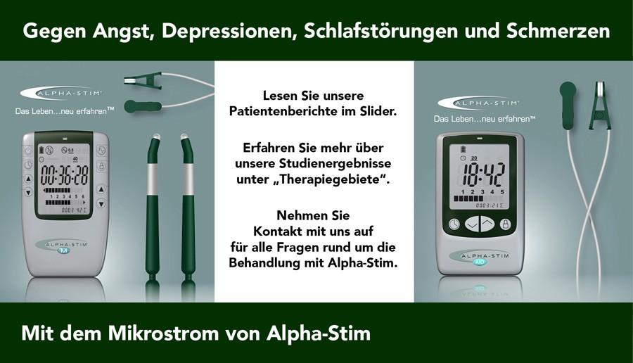 Alpha-Stim hilft gegen Schmerzen, Depressionen, Schlaflosigkeit