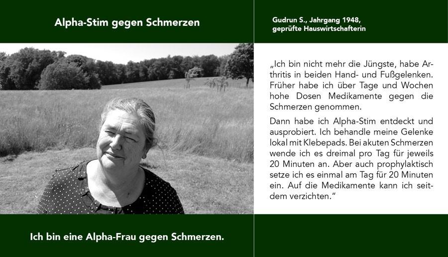 Gudrun Alpha-Stimm gegen Schmerzen